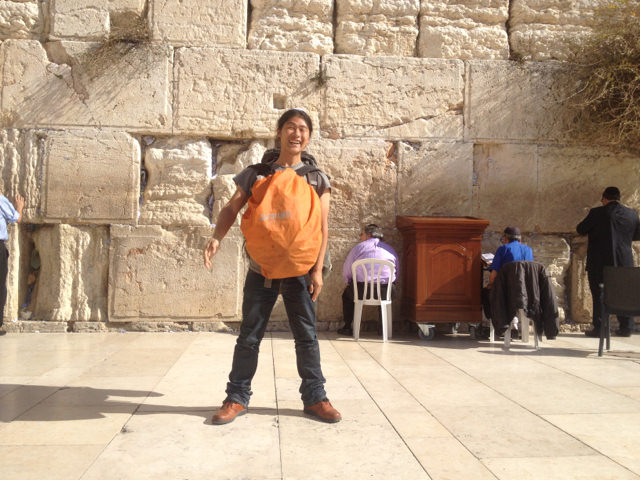 front of Western wall,Israel